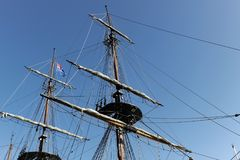 Sailing Ship, Tall Ship, Mast, Ship royalty free stock images
