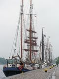 Sailing Ship, Tall Ship, Ship, Barquentine stock image