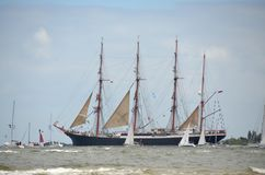 Sailing Ship, Tall Ship, Ship, Barquentine royalty free stock images