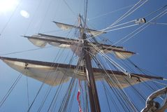 Sailing Ship, Tall Ship, Ship, Brigantine royalty free stock photos