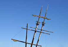 Sailing ship with two crow nests Stock Photo