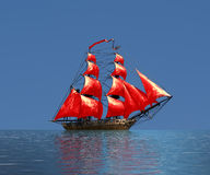 Sailing ship  under full sail Royalty Free Stock Photo