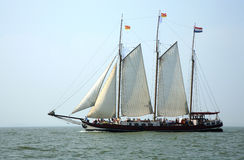 Sailing ship  under full sail. Royalty Free Stock Photos