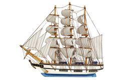Sailing-ship under full sails royalty free stock photography