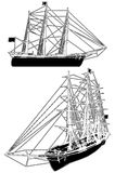Sailing Ship Vector 01. Sailing Ship Isolated Illustration Vector Royalty Free Stock Images