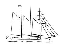 Sailing ship - vector Royalty Free Stock Image