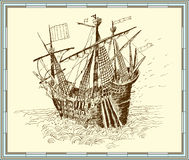 Sailing-ship. vector Stock Images