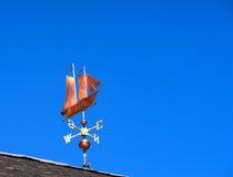 Sailing ship weather vane Royalty Free Stock Images