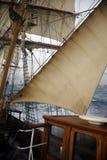 Sailing Ship Wheel House Stock Photography