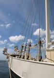 Sailing ship wooden. Tall sailing wooden ship yacht Stock Photos