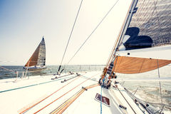 Sailing Ship Yachts With White Sails Royalty Free Stock Photography