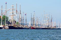 Sailing ships. Traditional sailing ships on the baltic sea in Kiel, Germany Stock Photography