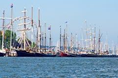 Sailing ships. Traditional sailing ships on the baltic sea in Kiel, Germany stock photography