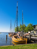 Sailing ships in Ahrenshoop Stock Images