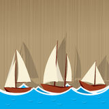 Sailing ships background Royalty Free Stock Photo