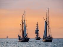 Sailing ships on the Baltic Sea Stock Image