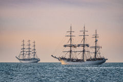 Sailing ships on the Baltic Sea Stock Photography