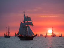 Sailing ships on the Baltic Sea Royalty Free Stock Image