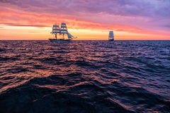 Sailing ships on the Baltic Sea Royalty Free Stock Photography