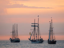 Sailing ships on the Baltic Sea Stock Photo