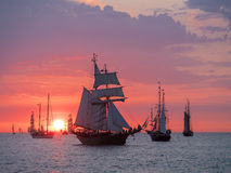 Sailing ships on the Baltic Sea Stock Images