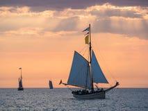 Sailing ships on the Baltic Sea Stock Photo