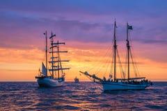 Sailing ships on the Baltic Sea Royalty Free Stock Photos