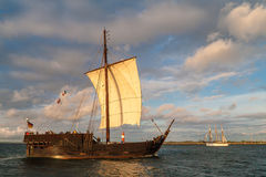 Sailing ships on the Baltic Sea in Rostock (Germany) Royalty Free Stock Photos