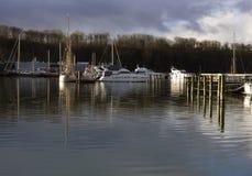 Sailing ships at the bay Stock Image