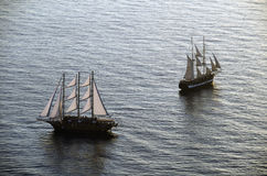 Sailing ships in the bay Royalty Free Stock Images