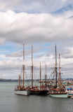 Sailing Ships in Brixham Harbour Stock Photos