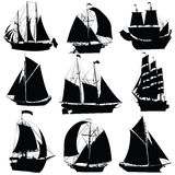 Sailing ships collection Royalty Free Stock Images