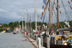Sailing ships in Eckernfoerde Stock Image