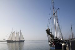 Sailing ships in Enkhuizen Royalty Free Stock Photo
