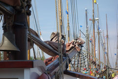 Sailing ships. At the Hanse Sail in Rostock, Germany stock photo