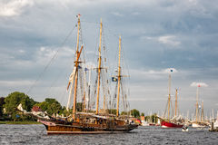 Sailing ships on the Hanseatic Sail Stock Image