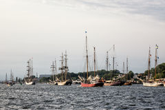 Sailing ships on the Hanseatic Sail Royalty Free Stock Photos