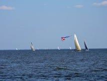 Sailing ships regatta, Nida Royalty Free Stock Photos