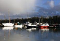Sailing ships resting at the bay Royalty Free Stock Image