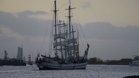 Sailing ships at the river