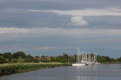 Sailing Ships On The Ryck Royalty Free Stock Photos