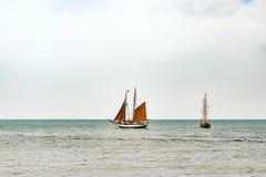 Sailing ships on the sea. Tall Ship.Yachting and Sailing travel. Royalty Free Stock Image