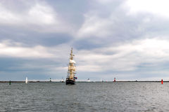 Sailing ships on the sea. Tall Ship.Yachting and Sailing travel. Stock Image