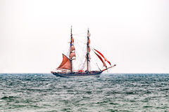 Sailing ships on the sea. Tall Ship.Yachting and Sailing travel. Royalty Free Stock Photo
