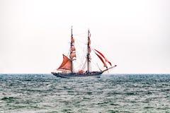Sailing ships on the sea. Tall Ship.Yachting and Sailing travel. Stock Image