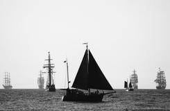 Sailing ships (Warnemunde - Rostock, Germany). Sailing ships (worldwide parade of sailing ships in Warnemunde - Rostock, Germany Stock Image