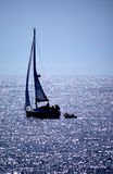 Sailing Silhouette Stock Photography