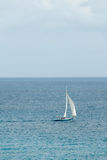 Sailing Sloop in the Caribbean II Royalty Free Stock Photo