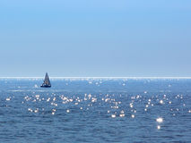 Sailing on Sparkling Water - Lake Michigan Stock Image