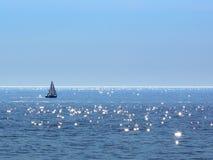 Sailing on Sparkling Water - Lake Michigan Stock Image